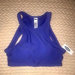 NWT Old Navy High-Neck Blue Bathing Suit Top